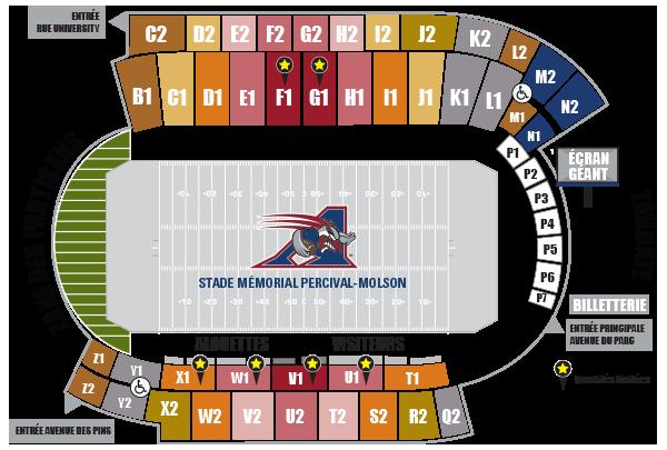 Plan du stade de McGill